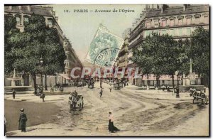 Old Postcard Paris Avenue of the Opera