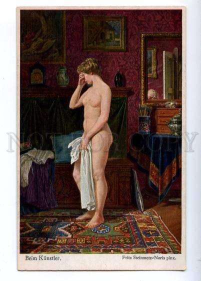 176699 NUDE Belle Woman Model by STEINMETZ-NORIS Vintage PC