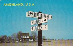 Pennsylvania Lancaster Amishland U S A Dutch Country Road Sugns 1966