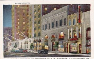 Mayflower Hotel Harveys Famous Restaurant 1107 Connecticut Avenue North West ...