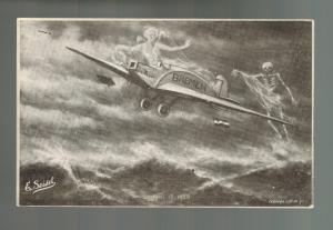 Mint Bremen Junkers D 1167 Airplane Transatlantic Flight with Ghosts Postcard