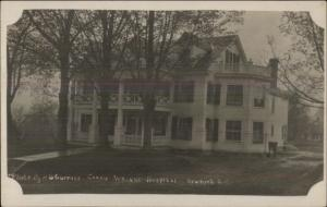 Newport NH Carrie Wright Hospital c1910 Real Photo Postcard