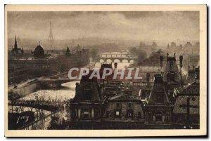 Postcard Old Paris Strolling panoramic view of Paris Perspective Seven Bridges