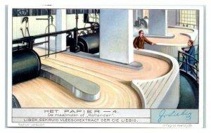 1932 Hollander Mill, Paper Making, Liebig Belgian Trade Card *VT32B