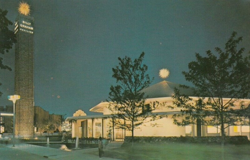 New York World's Fair , NYC , 1964-65 ; The Pavilion at Night