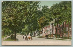 Buffalo New York~Delaware Avenue~Residential Area~Cars-Bicycle in Street~1908