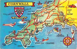 B104039 cornwall map cartes geographiques    uk