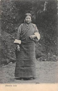 Native Bhootia lady, traditional dress