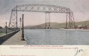 DULUTH , Minnesota, 1908; Aerial Bridge over Ship Canal