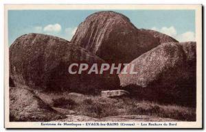 Old Postcard Around Montlucon Evaux les Bains Edge Rocks