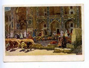 204819 RUSSIA KOTOV market Bukhara AKHR #142 old postcard