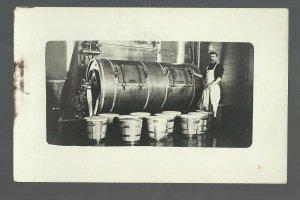 Fenton IOWA RPc1910 INTERIOR CREAMERY Butter Maker nr Algona Emmetsburg Bancroft