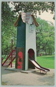 Rapid City South Dakota~Story Book Island~Koo Koo Clock~Tower with Slide~1960s