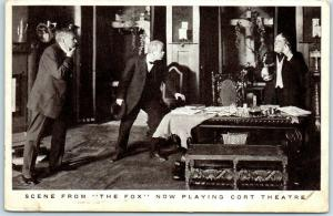 Vintage Chicago Advertising Postcard THE FOX Play at CORT THEATRE 1910s Unused