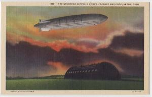 Goodyear - Zeppelin Corp's Factory &amp Dock, Akron OH