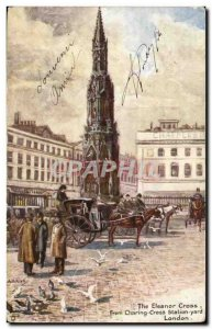 Great Britain Great Britain London London Old Postcard From The Eleanor Cross...