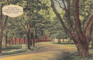 BOULDER, Colorado, 1930-40s; The Road That Leads to Better Health, Boulder-Co...