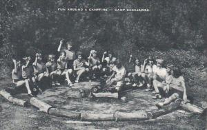 Fun Around A Campfire Camp Sacajawea New Jersey Artvue