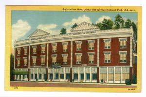 Rockafellow Hotel Baths, Hot Springs, Arkansas, unused linen PPC