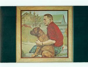 Louis Broomfield Dogs Famous Boxer bt Anthony Wills  Malabar  Postcard # 6025