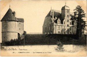 CPA CHATILLON Le Chateau et la Tour Nievre (100284)