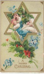 CHRISTMAS, 1910 ; Blue Suit Santa Claus