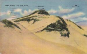 Massachusetts Cape Cod Sand Dunes 1947