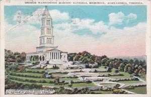 Virginia Alexandria George Washington Masonic National Memorial 1921