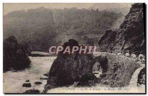 Old Postcard Itxassou the Pas de Roland La breche