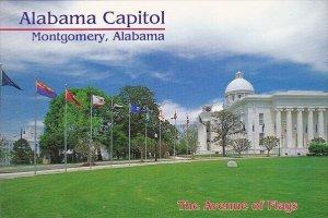 Alabama State Capitol Avenue Of Flags Montgomery Alabama
