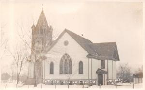 Dayton IA Several Inches of Snow on the Ground~Swedish Mission Church c1909 RPPC
