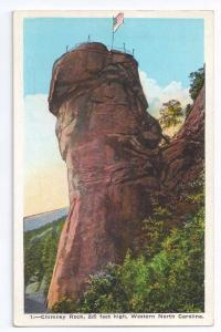 Chimney Rock North Carolina 1926 Asheville Post Card Co