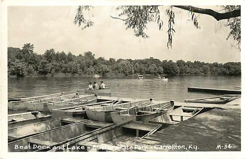 RPPC of the Boat Dock & Lake Butler State Park Carrollton KY