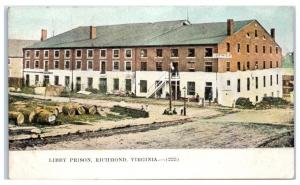 Early 1900s Libby Prison Richmond, VA, Civil War Confederate-Run Prison Postcard