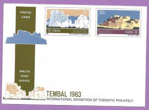 Malta #627-628 Europa Postal Card