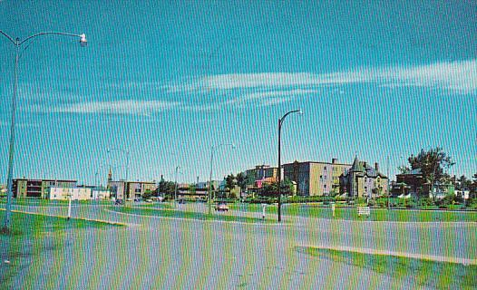 Rond Point,  Rue St. Germain,  Rimouski,  Quebec,  Canada,  PU_1964