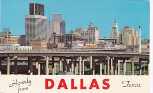 Howdy from DALLAS, Texas; Skyline, Hub of Business Activity for the entire So...