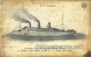 SSS Leviathan, Jewish Welfare Board  Postcard Post Cards Old Vintage Antique ...