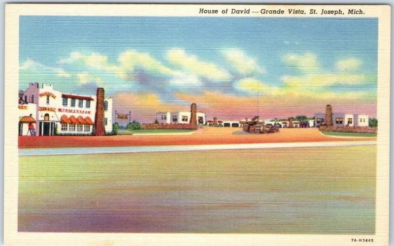 St  Joseph, MI Postcard GRANDE VISTA RESORT Roadside House