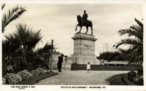 australia, MELBOURNE, VIC., Statue of King Edward VII (1930s) Rose Series