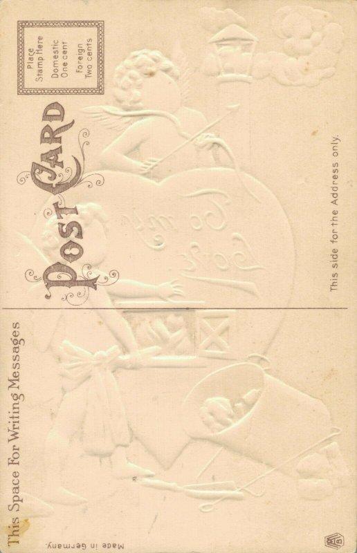 Valentine To My Love Vintage Embossed Postcard 03.75