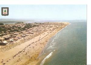 Postal 049023 : Huelva. Playa ed Punta Umbria. Vista aerea