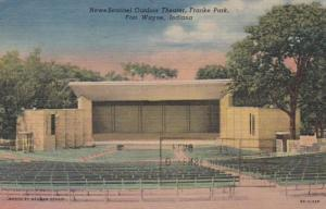 Indiana Fort Wayne News-Sentinel Outdoor Theatre Franke Park 1953 Curteich