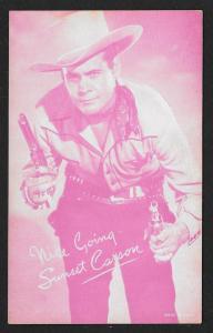 ARCADE CARD Cowboy Entertainer Sunset Carson