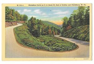 WV Highway Route 50 Horseshoe Curve Grafton Clarksburg Linen