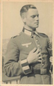 Postcard social history early elegant man military german nazy uniform officer