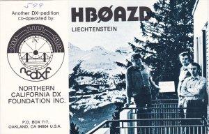 AMATEUR RADIO; HBOAZD  Liechtenstein, Northern California DX Foundation Inc...