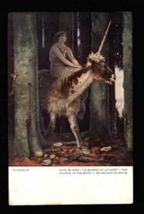 021845 Magic Animal in Wood By BOCKLIN Vintage PC