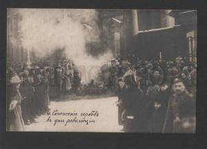 120519 1917 RUSSIA Burning of Coat arms in days of Revolution