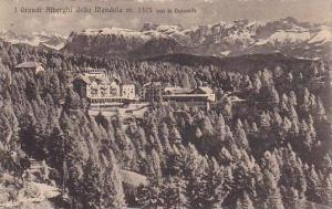 Aerial View, J Grande Alberghi della Mandola m. 1375 con le Dolomiti, Trentin...
